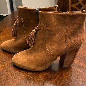 French Connection Suede Camel Ankle Boots
